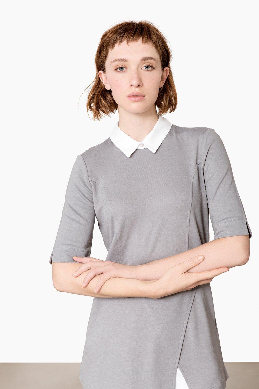 Damen ShirtSilbergrau Müller Weiss Weiss ShirtSilbergrau Damen Trade 4LAjR5