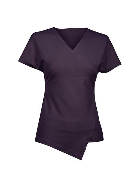 Damen-T-Shirt, aubergine