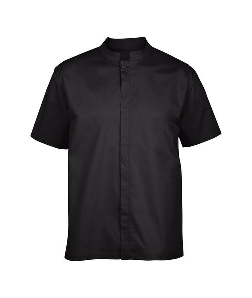 Chemise homme manches courtes, noire