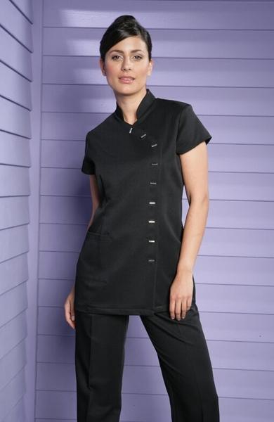 Damen-Kasack Kurzarm, schwarz