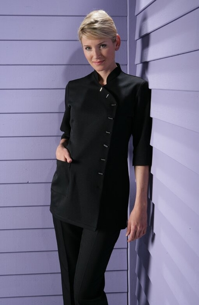 Damen-Kasack ¾-Arm, schwarz