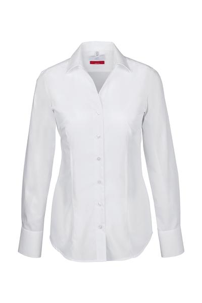 Damen-Bluse Langarm, weiss