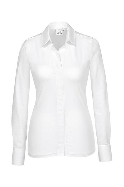 Damen-Shirtbluse Langarm, weiss