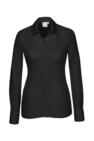 Damen-Shirtbluse Langarm, schwarz