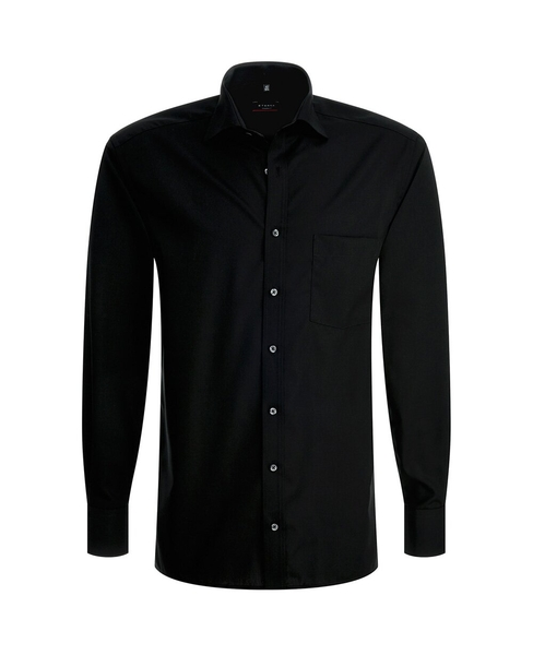 Herren-Hemd Langarm, schwarz