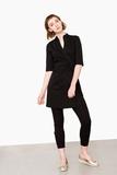 leya-kasack-wickelkleid-mit-stehkragen-schwarz-mit-kragen-sand-pure-berufsbekleidung-03