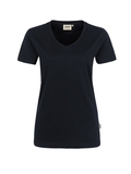 Damen-T-Shirt Performance Kurzarm, schwarz