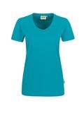 Damen-T-Shirt Performance Kurzarm, smaragd