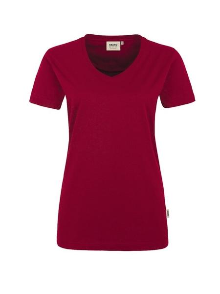 Damen-T-Shirt Performance Kurzarm, weinrot