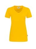 Damen-T-Shirt Performance Kurzarm, sonne