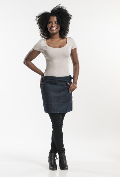 Jeans-Bistroschürze, blue denim