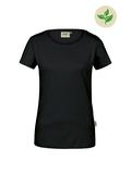 Fairtrade Damen-T-Shirt Kurzarm, schwarz