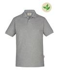 Fairtrade Herren-Poloshirt Kurzarm, grau meliert