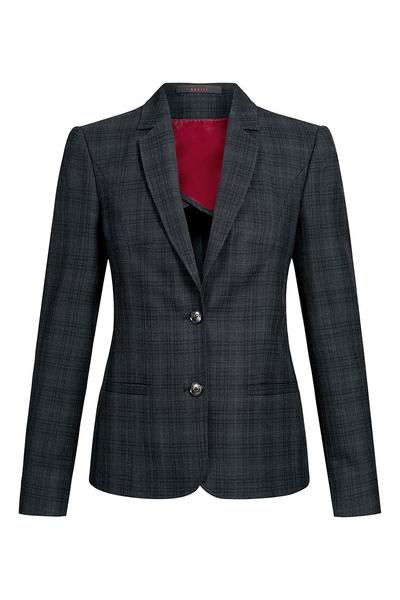 Damen-Blazer, schwarz kariert