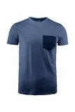 Herren-Shirt Kurzarm, marine meliert