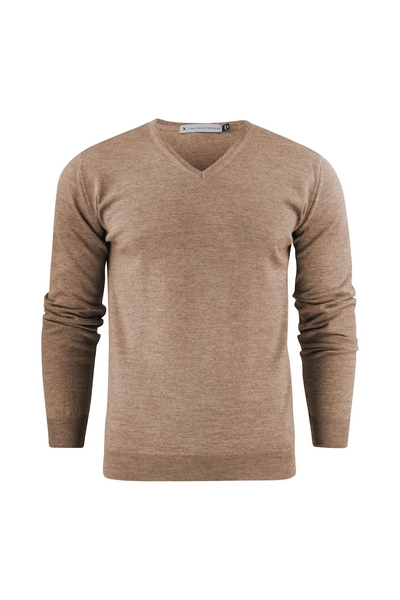 Herren-Pullover, beige melange
