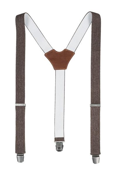 Hosenträger, brown denim