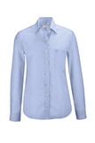 Damen-Bluse Langarm, bleu