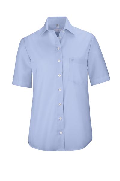 Damen-Bluse Kurzarm, bleu