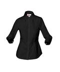 Damen-Bluse ¾-Arm, schwarz