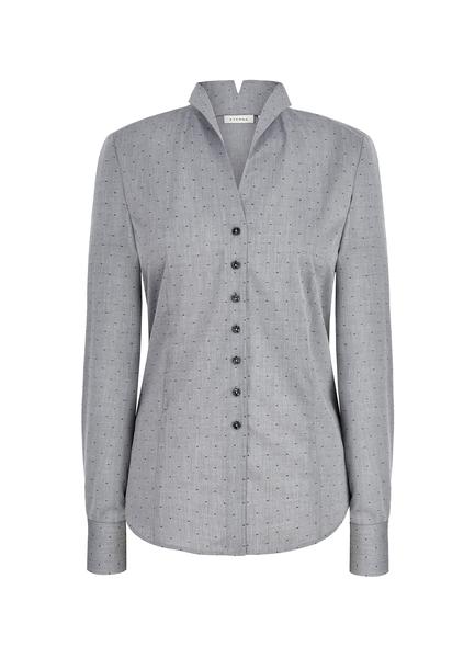 Damen-Bluse Langarm, grau