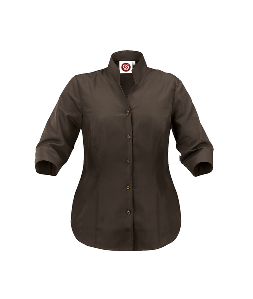 Damen-Bluse ½-Arm, chocolate