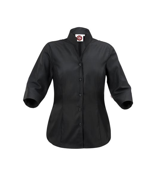 Damen-Bluse ½-Arm, schwarz
