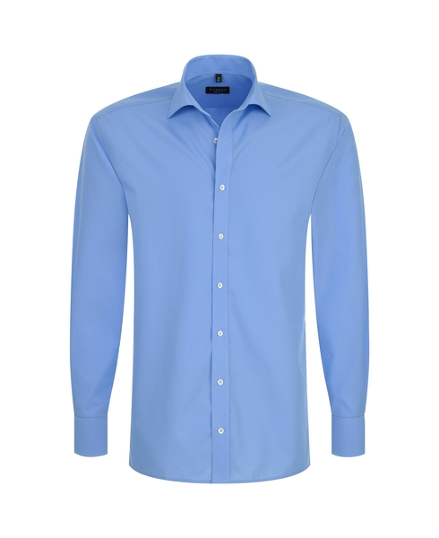 Herren-Hemd Langarm, blau