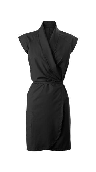 Damen-Wickelkleid, schwarz