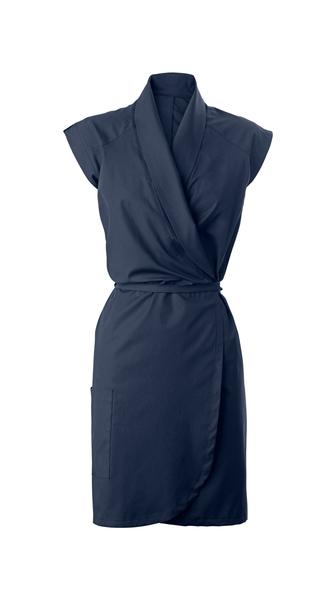 Damen-Wickelkleid, blau