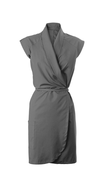 Damen-Wickelkleid, grau