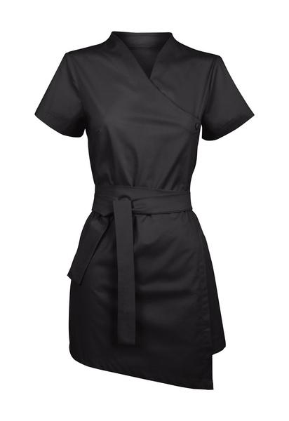Damen-Bluse Kurzarm, schwarz