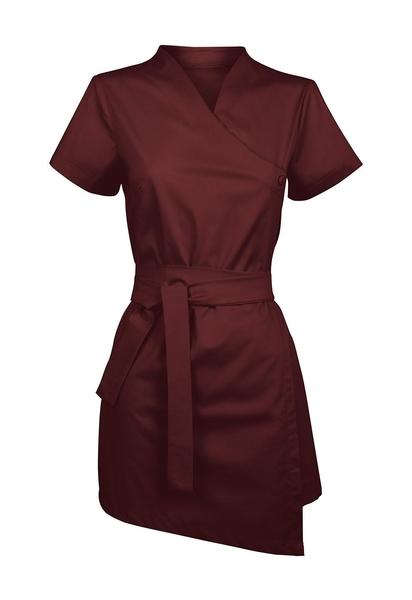Damen-Bluse Kurzarm, granat