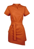Damen-Bluse Kurzarm, orange