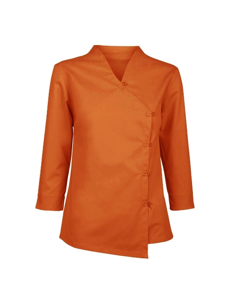 Damen-Bluse ¾-Arm, orange